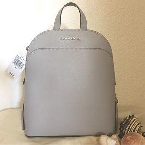 NWT Michael Kors Emmy Backpack in Pearl Grey